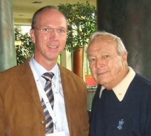 Golflegende Arnold Palmer und Adriaan