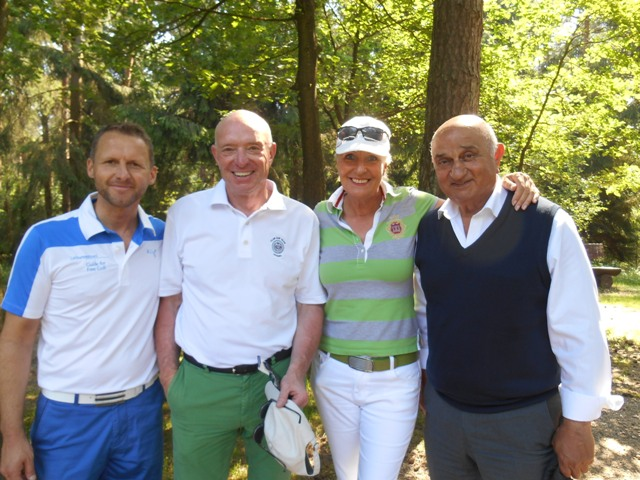 Ein schöner Tag auf der Golfanlage Worpswede mit meinen Freunden Ingo Staats, Wolfgang Rummenigge, Fery Amir-Sehhi