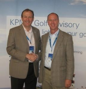 Jerry Kilby und Adriaan A. Straten auf dem KPMG Golf Business Forum in Belek