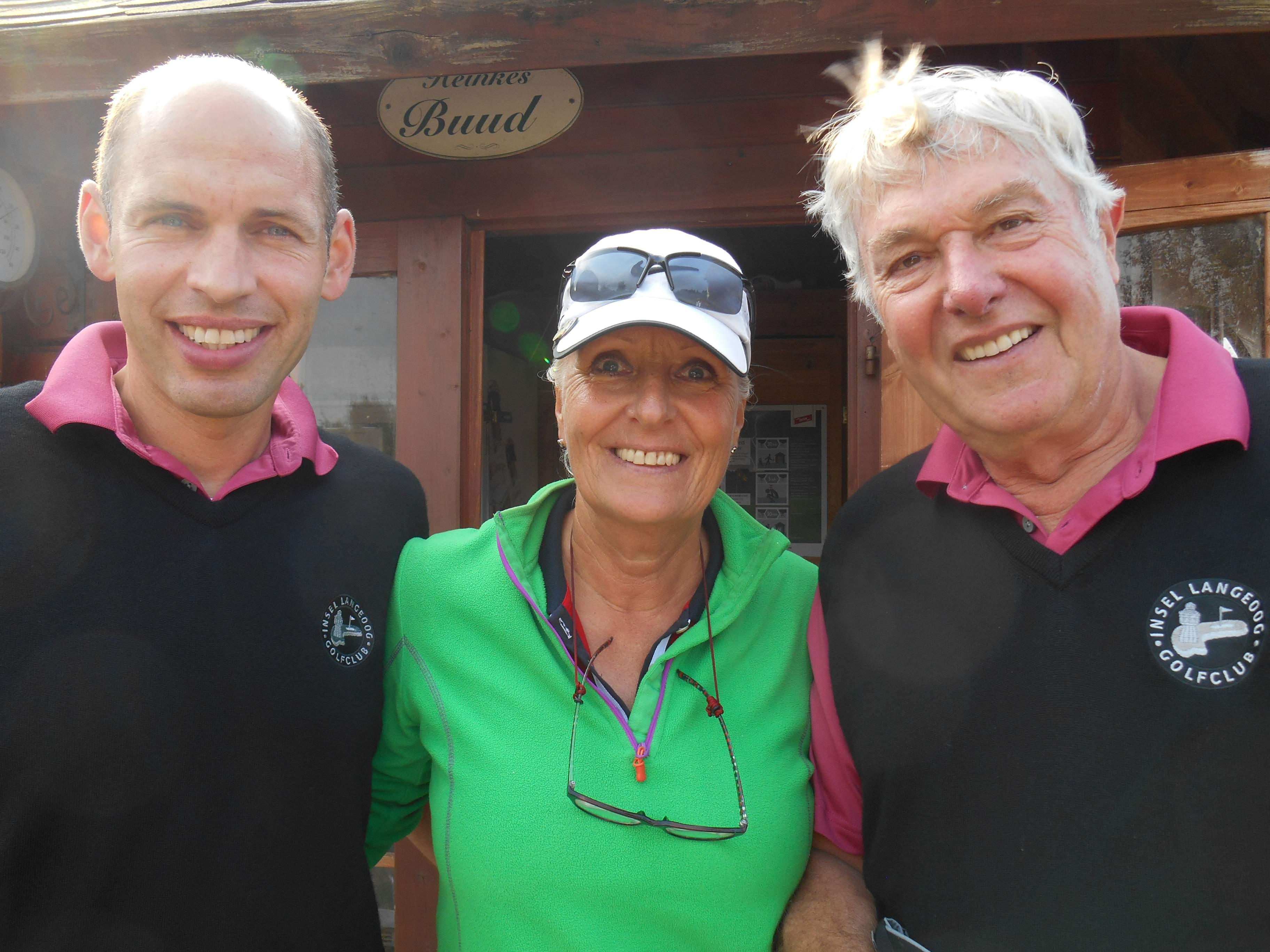 GC Langeoog Vize-Präsident Bernhard mit Annelie und GC Langeoog Präsident Jens